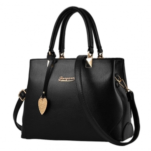 ***พร้อมส่ง*** กระเป๋าหนังแฟชั่นสตรี รหัส YW-8191 (Y8-013) สีดำ สไตล์เกาหลี สำหรับ สุภาพสตรีทันสมัย ราคาไม่แพง