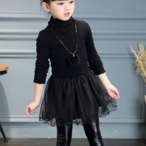 C120-21 ชุดกระโปรงกันหนาวเด็ก เสื้อตัวยาว(ไม่รวมกางเกง) บุผ้ากำมะหยี่ด้านในทั้งตัว สวย นุ่ม ใส่อุ่นสบาย size 110-150