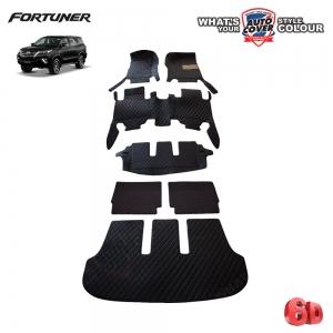 พรมรถยนต์ 6D Leather Car Mat รถ Toyota All New Fortuner ปี 2015-2019 ชุดเต็มคัน จำนวน 7 ชิ้น