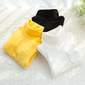 C99-25 เสื้อคอเต่ากันหนาว ผ้าคอตตอนเนื้อนุ่ม บุขนกำมะหยี่หนา แต่งกระเป๋าหน้า สวย อุ่นสบาย