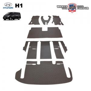 พรมกระดุม Super Save ชุด All Full ชุดเต็มคัน HYUNDAI H1 รุ่น 7 ที่นั่ง ปี 2008-2015