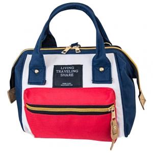 ***พร้อมส่ง*** กระเป๋าแฟชั่นสตรี รหัส CVW-AN02 (C4-023) สีน้ำเงินแดง สไตล์เกาหลี สำหรับ สุภาพสตรีทันสมัย ราคาไม่แพง