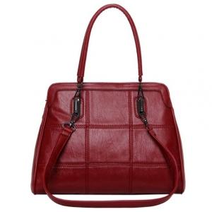 ***พร้อมส่ง*** กระเป๋าหนังแฟชั่นสตรี รหัส MIS-11273 (M9-212) สีแดง สไตล์เกาหลี สำหรับ สุภาพสตรีทันสมัย ราคาไม่แพง