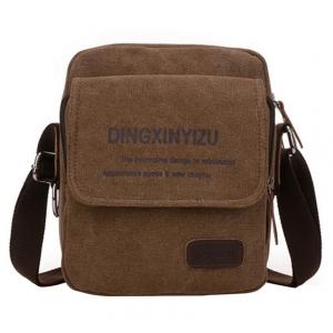***พร้อมส่ง*** กระเป๋าผ้าแคนวาส สำหรับสุภาพบุรุษ รหัส MB-0512 (M3-099) สีนํ้าตาลเข้ม สไตล์เกาหลี ราคาไม่แพง