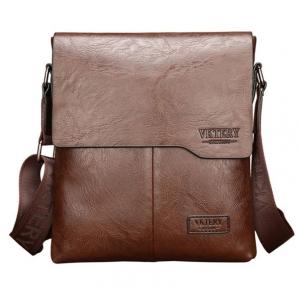 ***พร้อมส่ง*** กระเป๋าหนังแฟชั่น สำหรับสุภาพบุรุษ รหัส VK-9011L (V3-008) สีนํ้าตาล สไตล์เกาหลี ราคาไม่แพง