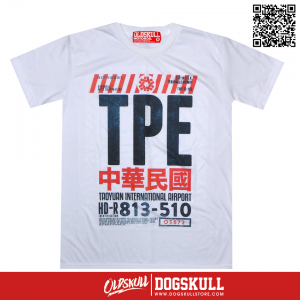 เสื้อยืด OLDSKULL : EXPRESS TICKET TO TPE | WHITE