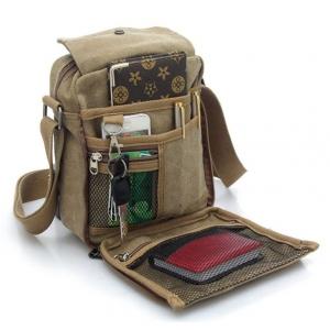 ***พร้อมส่ง*** กระเป๋าผ้าแคนวาส สำหรับสุภาพบุรุษ รหัส MH-6662 (M12-001) สีน้ำตาลเข้ม สไตล์เกาหลี ราคาไม่แพง