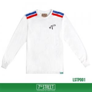 เสื้อยืดแขนยาว 7TH STREET - รุ่น TWO STRIPE | WHITE