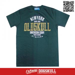 เสื้อยืด OLDSKULL : ULTIMATE HD #08 | DARK GREEN
