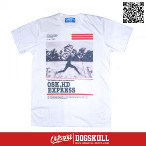 เสื้อยืด OLDSKULL : EXPRESS HD #37| ขาว