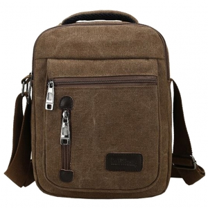 ***พร้อมส่ง*** กระเป๋าผ้าแคนวาส สำหรับสุภาพบุรุษ รหัส MH-7007 (M12-003) สีนํ้าตาลเข้ม สไตล์เกาหลี ราคาไม่แพง