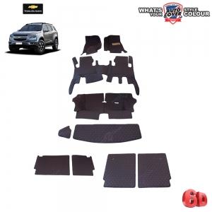 พรมรถยนต์ 6D รถ CHEVROLET TRAILBLAZER จำนวน 10 ชิ้น รวมแผ่นท้ายและหลังพนักพิง