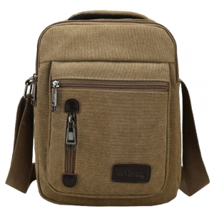 ***พร้อมส่ง*** กระเป๋าผ้าแคนวาส สำหรับสุภาพบุรุษ รหัส MH-7007 (M12-003) สีนํ้าตาล สไตล์เกาหลี ราคาไม่แพง