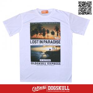 เสื้อยืด OLDSKULL : EXPRESS LOST INPRADISE | WHTE XL