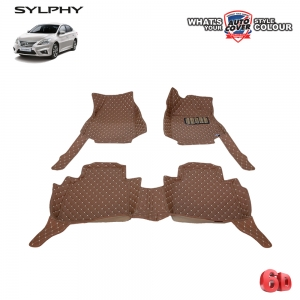 พรมรถยนต์เข้ารูป 6 D รถ NISSAN SYLPHY จำนวน 3 ชิ้น