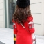 C124-55 เสื้อกันหนาวเด็กสีแดง พิมพ์ลายสวย บุผ้ากำมะหยี่หนา ใส่แทนลองจอนได้เลย size 110-160 thumbnail 3