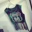 (SALE) เสื้อกั๊กสไตล์ฮาราจูกุ แต่งระบาย No.66 สีเขียว thumbnail 1