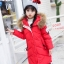 C119-49 เสื้อโค้ทกันหนาวตัวยาว สีแดงสวย งานปักอย่างดี ผ้าบุนวมมีซับในทั้งตัว มีฮูทกันลม ซิปหน้ากระดุมซ่อน size 120-140 thumbnail 1