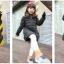 C119-22 เสื้อกันหนาวเด็กสีสวยบุนวม แขนเสื้อยาวกันหนาวได้ มีฮูท สวยอุ่นสบายๆ size 120-160 thumbnail 2
