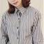 (SALE) เสื้อเชิ๊ต ลายทาง แขนยาว สีดำ thumbnail 1