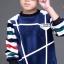 C126-34 เสื้อกันหนาวเด็กผ้ากำมะหยี่เนื้อนุ่ม ใส่แทนลองจอน 2 สี พร้อมส่ง thumbnail 3