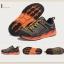 รองเท้าผ้าใบหนังแท้ ยี่ห้อ Merrto รุ่น 8619 สีเทา/ส้ม thumbnail 8