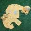 เซตผูกหน้ายาว 4 ชิ้น ผ้า Interlock Cotton ( 0-3 เดือน) thumbnail 1