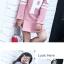 C117-52 เสื้อกันหนาวเด็ก สีชมพู บุขนนุ่มด้านในเพิ่มความอบอุ่น ลายสวย ผ้านุ่ม อุ่นสบาย size 110-160 thumbnail 2