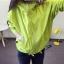 เสื้อคลุม มีฮูด แขนยาว ซิปหน้า แต่งอาร์ม การ์ตูน ผ้าร่ม สีเขียวเลม่อน thumbnail 1