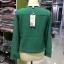 เสื้อแฟชั่น คอวี แขนยาว แต่งกระดุม สีเขียว thumbnail 3