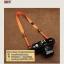 สายคล้องกล้องไนล่อน เส้นเล็ก สีส้มสว่าง thumbnail 9