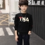 C123-56 เสื้อกันหนาวเด็กบุขนนุ่ม สกรีนลาย สีดำสวย ใส่อุ่นสบาย size 120-160 thumbnail 2