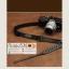 สายกล้องผ้าปรับสายได้ รุ่นปลายหนังแท้ สีดำ thumbnail 8