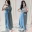 ชุดคลุมท้องmaxi dress ผ้าไม่ต้องรีด เนื้อผ้าลื่นๆเหมาะกับอากาศบ้านเรา ณ ตอนนี้ค่ะ กระดุมแกะให้นมได้ด้วย ชุดมีซับใน สีฟ้า สีเดียวค่ะ thumbnail 1