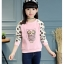 C125-51 เสื้อกันหนาวเด็กสีชมพู พิมพ์ลายนกฮูกน่ารัก ขนกำมะหยี่ ใส่อุ่นสบาย thumbnail 1