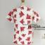 เสื้อ ผ้ามิรินพิมพ์ลายแตงโม สีขาว อก 44 นิ้ว thumbnail 2