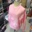 (ภาพจริง)เสื้อคลุมแฟชั่น แขนยาว ซิปหน้า สีพื้น สีชมพู thumbnail 4