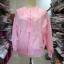 (ภาพจริง)เสื้อคลุมแฟชั่น แขนยาว ซิปหน้า สีพื้น สีชมพู thumbnail 2