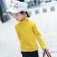 C122-85 เสื้อกันหนาวสีเหลือง มีขนกำมะหยี่นุ่ม ใส่ได้ทั้งชายหญิง สวย ใส่อุ่น size 110-160 thumbnail 1