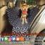 ผ้าปูกันเปื้อนในรถยนต์ : สีดำลายเท้าหมา thumbnail 1