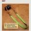 สายกล้องคล้องคอ - รุ่นกันลื่น ขนาด 25 mm สีเขียวหญ้า ปลายน้ำตาลอ่อน thumbnail 6
