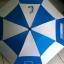 ร่มกอล์ฟ2ชั้น 32 นิ้ว ผ้าUV สลับสี โครงไฟเบอร์ มือเปิด ปลอกผ้า คละสี สกรีนโลโก้