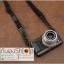 สายกล้องผ้าปรับสายได้ รุ่นปลายหนังแท้ สีดำ thumbnail 5