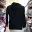 เสื้อแฟชั่น มีฮูด แขนยาว สีพื้น สีดำ (ผ้าไม่หนา) thumbnail 4