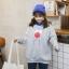เสื้อแฟชั่น คอปีน แขนยาว บุกันหนาว ลายการ์ตูน สีเทา thumbnail 1