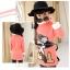 C129-20 เสื้อกันหนาวเด็กคอสูงผ้าสีชมพูคอสูง ปักลายการ์ตูนสวย ผ้าขนนุ่ม ใส่อุ่น size 120-160 thumbnail 2