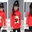 C116-92 เสื้อกันหนาวเด็กลายหมีสีแดง ข้างในเป็นผ้าขนนุ่ม สวย อบอุ่นสบาย size 120-160 พร้อมส่ง thumbnail 3