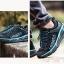 รองเท้าผ้าใบหนังแท้ ยี่ห้อ Merrto รุ่น 8619 สีดำ/ฟ้า thumbnail 2