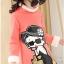 C129-20 เสื้อกันหนาวเด็กคอสูงผ้าสีชมพูคอสูง ปักลายการ์ตูนสวย ผ้าขนนุ่ม ใส่อุ่น size 120-160 thumbnail 1