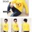 C116-43 เสื้อกันหนาวเด็กชายสีเหลือง พิมพ์ลายสวย ผ้ามีขนนุ่มๆเพิ่มความอบอุ่น สวมใส่สบาย size 120 พร้อมส่ง thumbnail 4